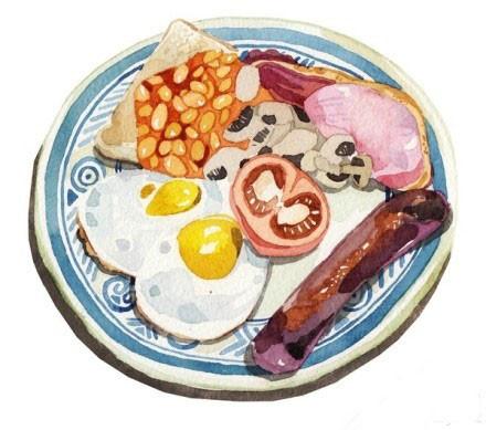 Завтрак на голубой тарелке.jpg