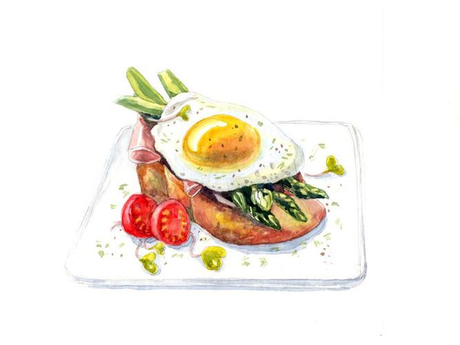 Завтрак на подносе