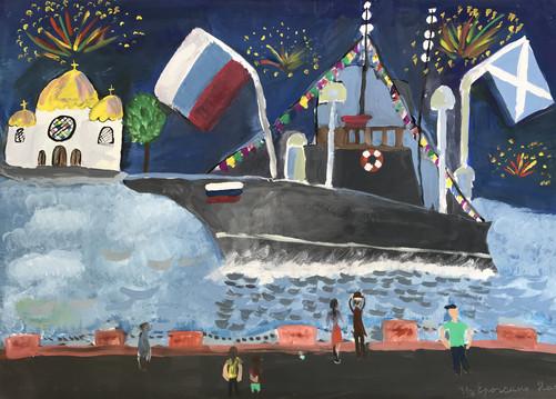 Анастасия Ерохина 9 лет, Салют Победы. Преподаватель Изотова О.А.