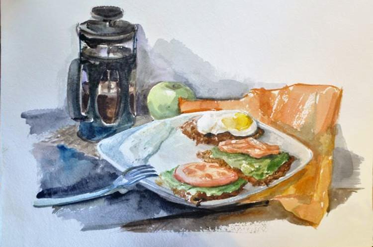 Завтрак с бутербродами