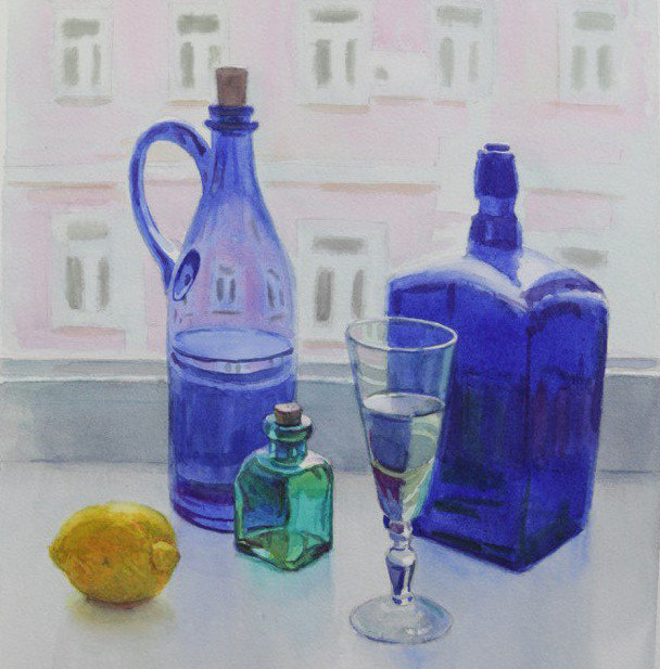 Натюрморт с синим стеклом