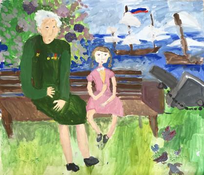 Стефания Язаджи 9 лет, Бабушка, а на войне страшно? Преподаватель Григоренко С.М.