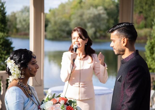 Wedding by the lake. Custom Ceremony. Alesia Tsvok