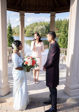 Beautiful Outdoor Gazebo wedding. Olesya Tsvok