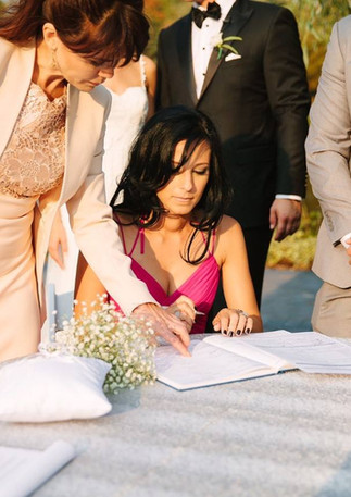 Signing Wedding Licence. Officially Married.