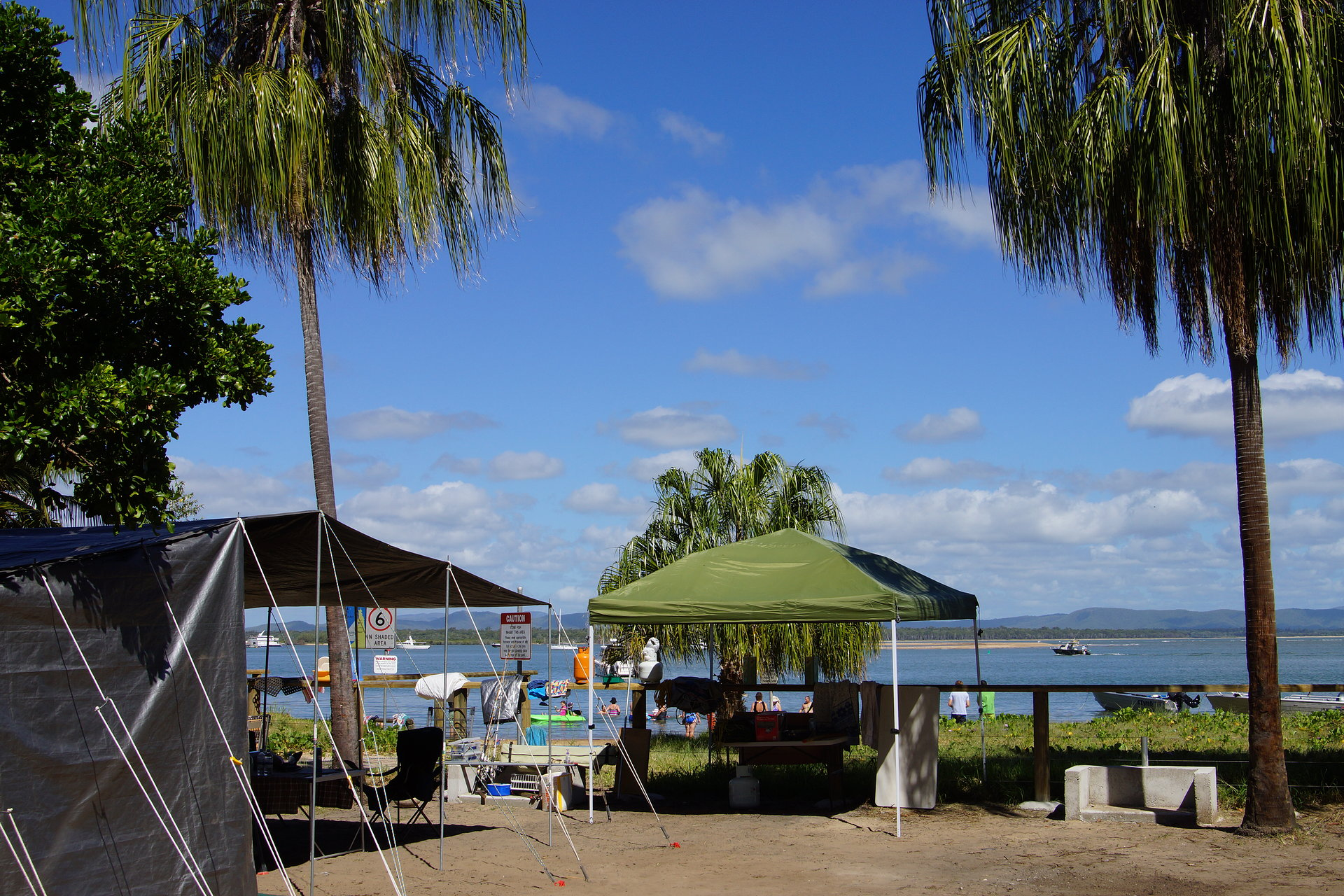 Beachfront camp