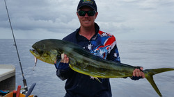 Chris with beautiful Mahi Mahi from