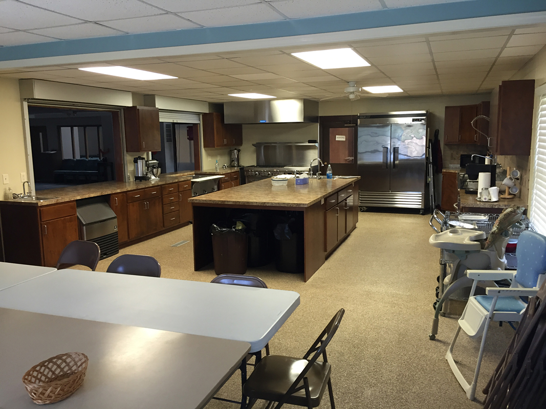 2016 - Kitchen equipped with comercial grade appliances (serving to Fellowship Hall)
