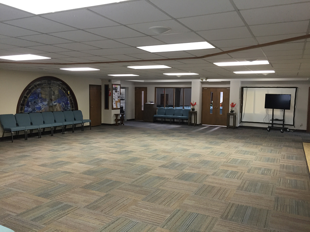 2016 - Fellowship Hall (leading into worship center)