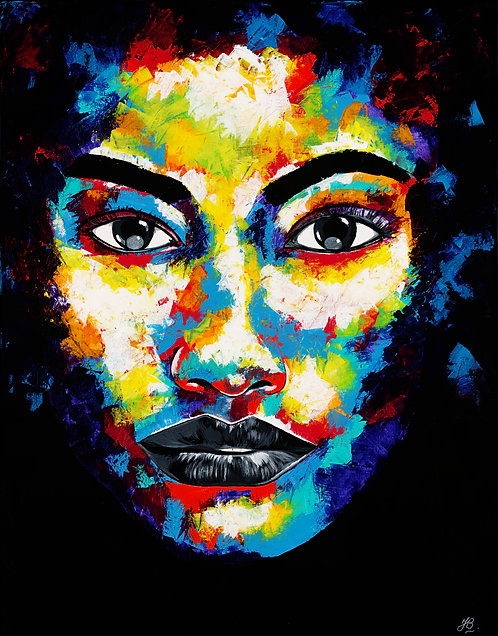 Giclee Print 'Cold and empty eyes'