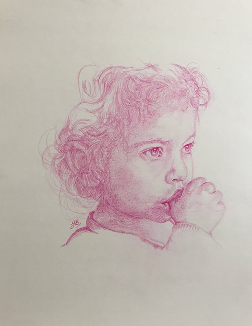 A4 Commissioned Pencil drawings (Single Colour Pencil)
