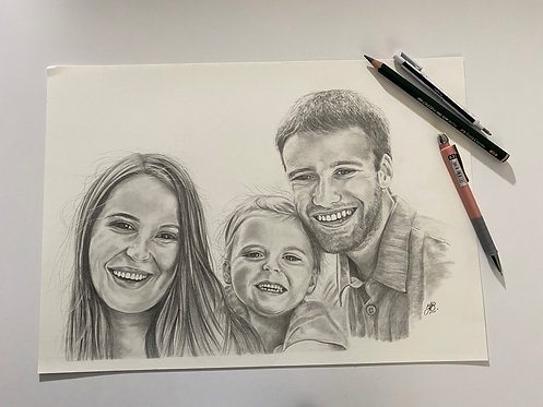 A4 Commissioned Pencil drawings (Graphite Pencil)
