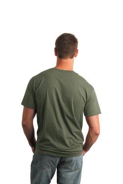 Military Green T-Shirt Model Back