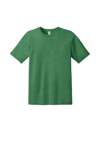 Heather Green Custom Tee Model Front