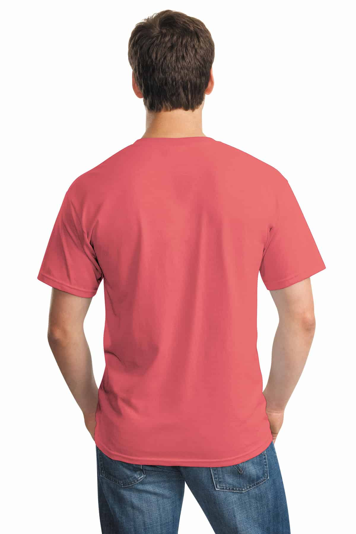 Coral Silk Tee Back