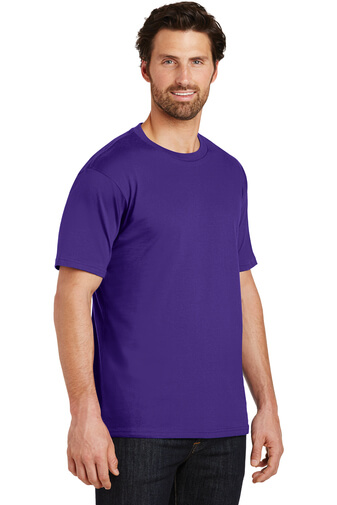 Side Custom Tee Shirt Purple