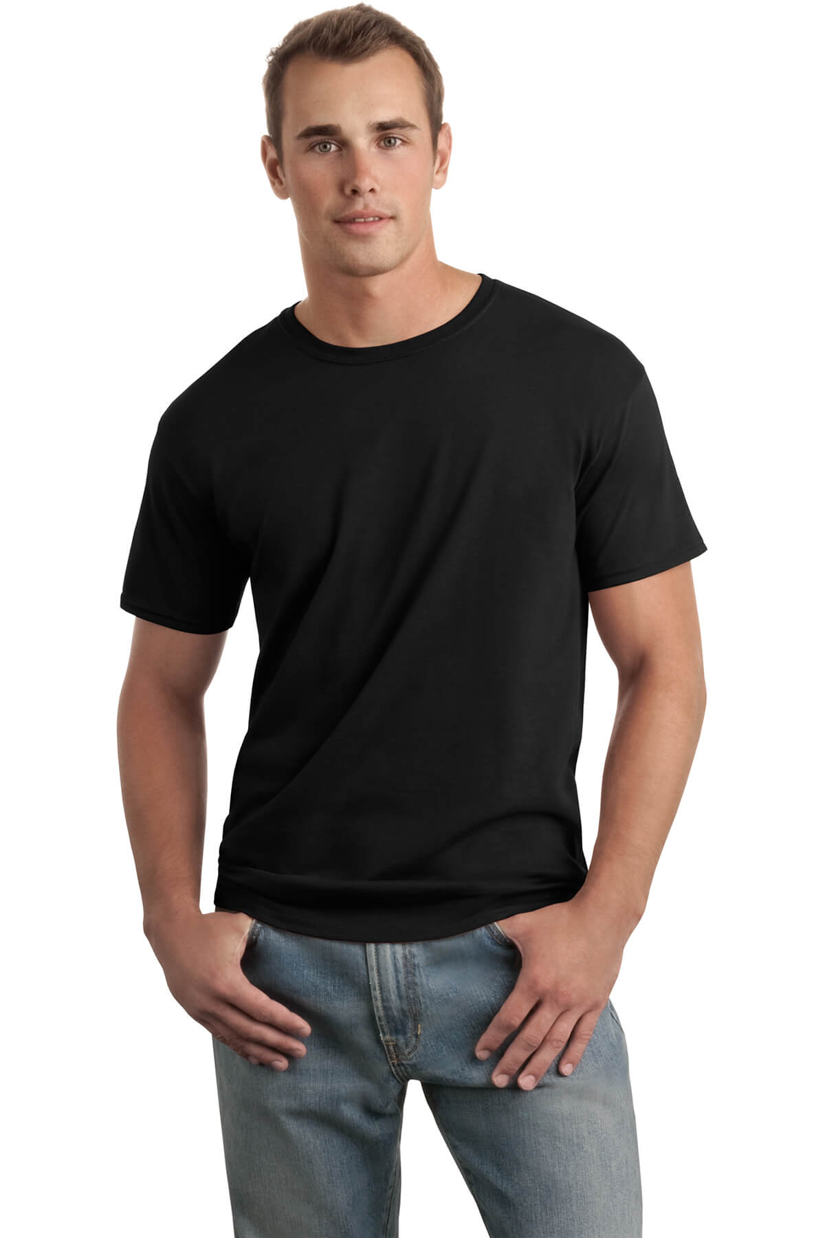 Black T-Shirt Model Front