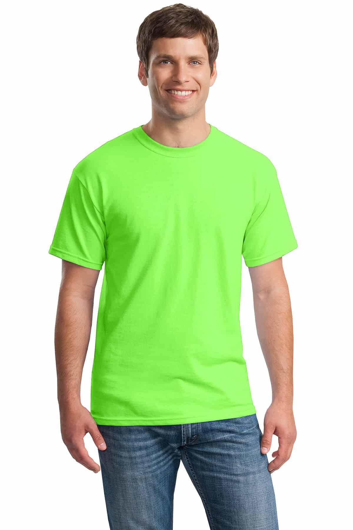 Neon Green Tee Front