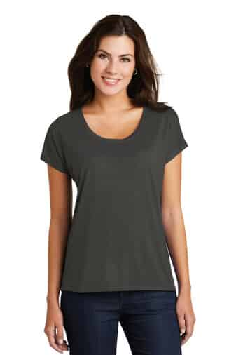 Ladies Tee Charcoal Front