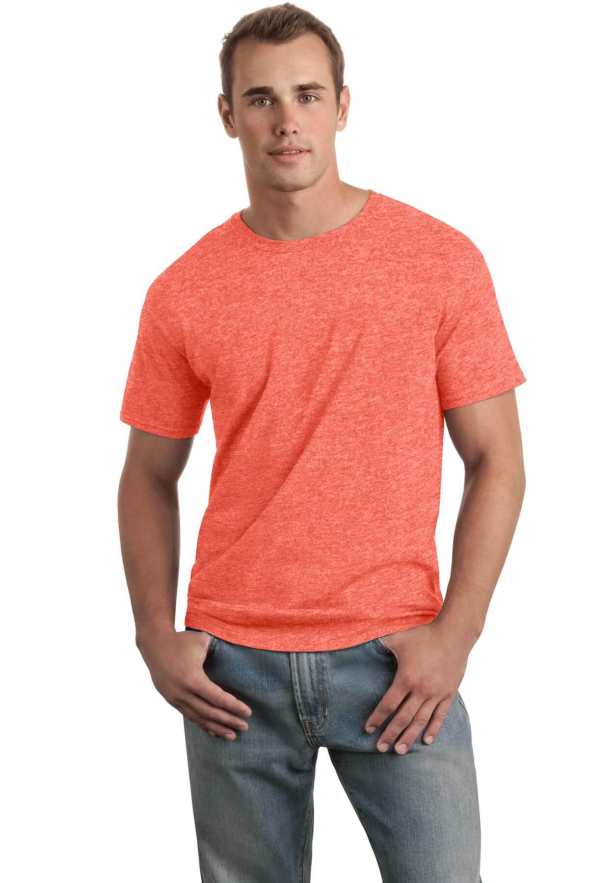 Heather Orange T-Shirt Model Front