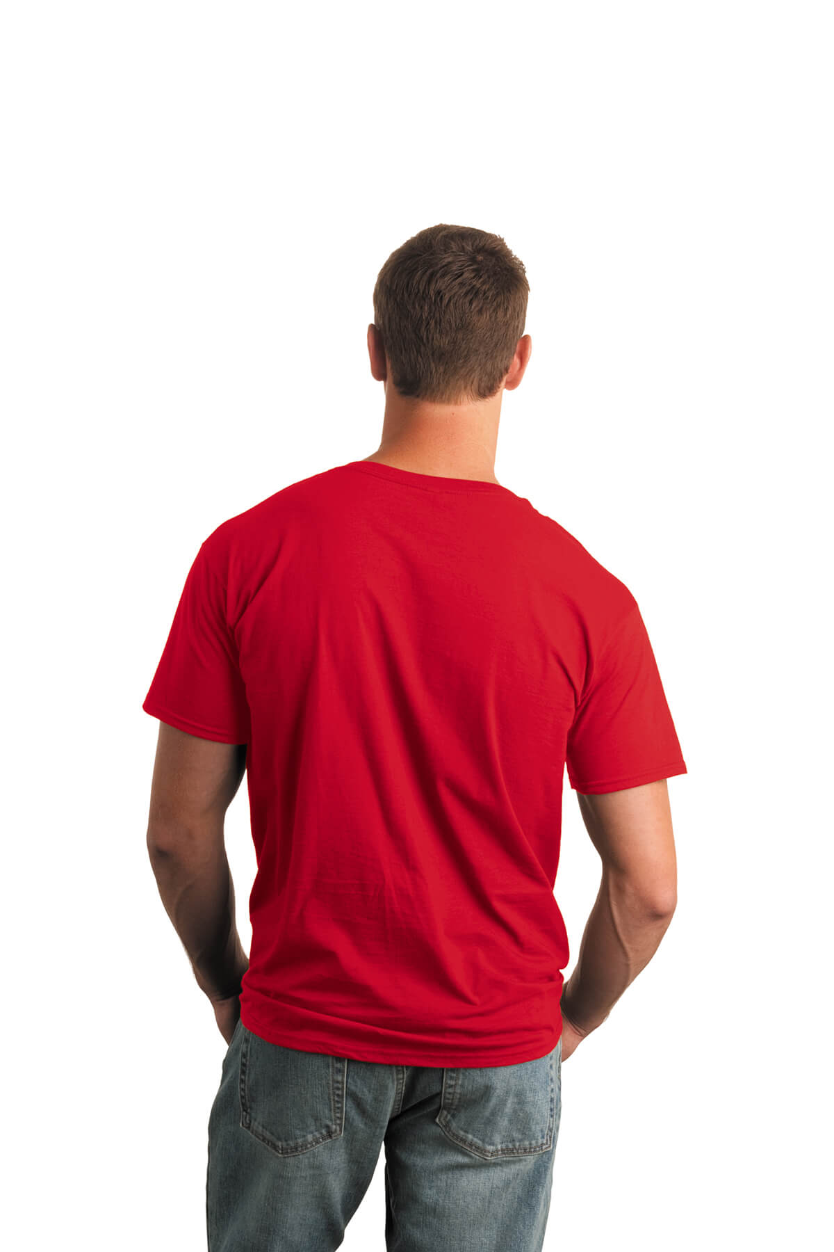 Red T-Shirt Model Back