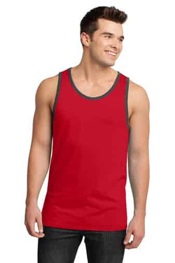 Red Custom Tank Print Top Front