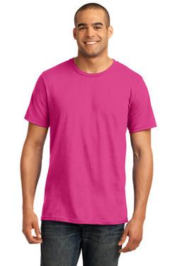 Hot Pink Custom Tee Model Front