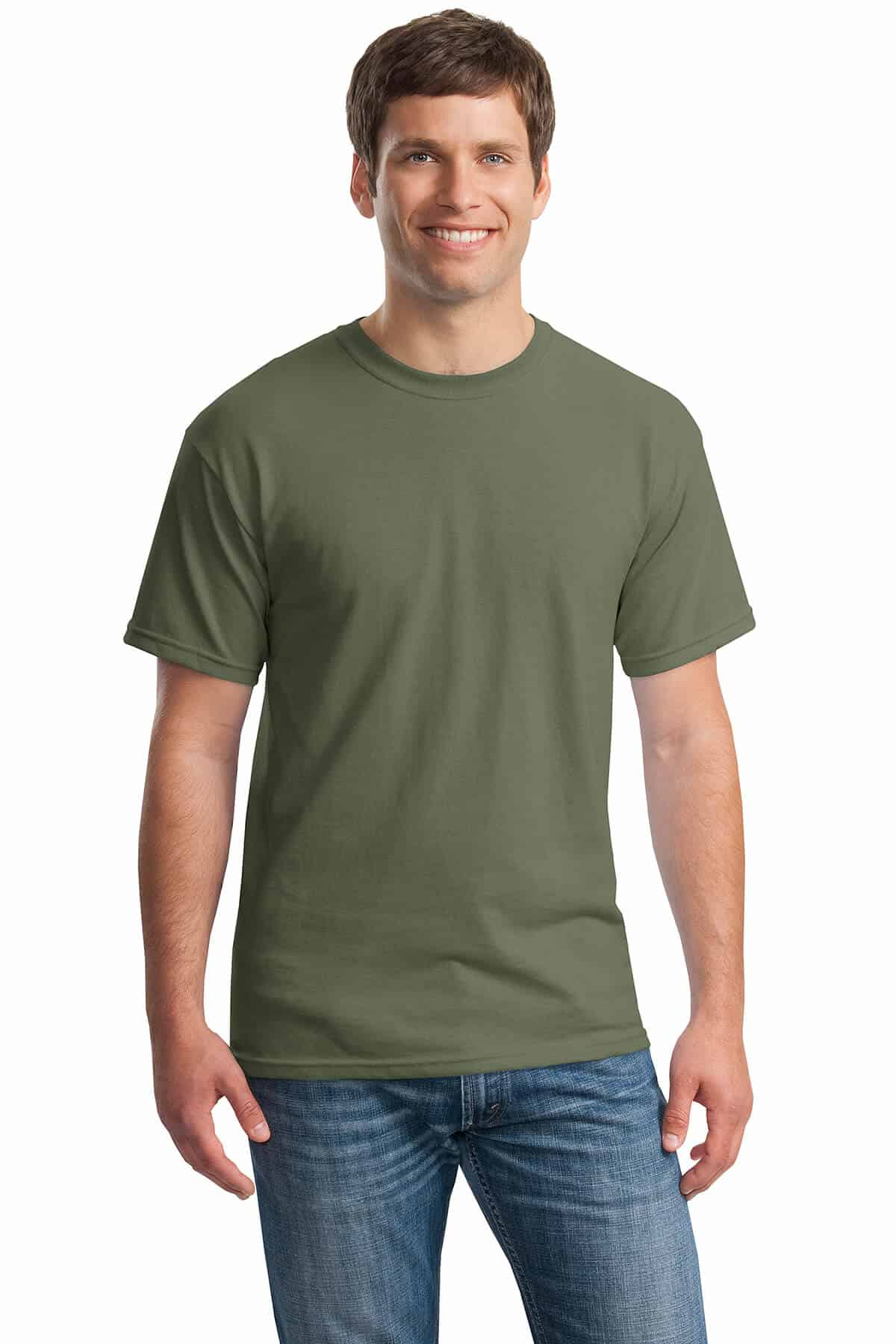Military Green Tee Front