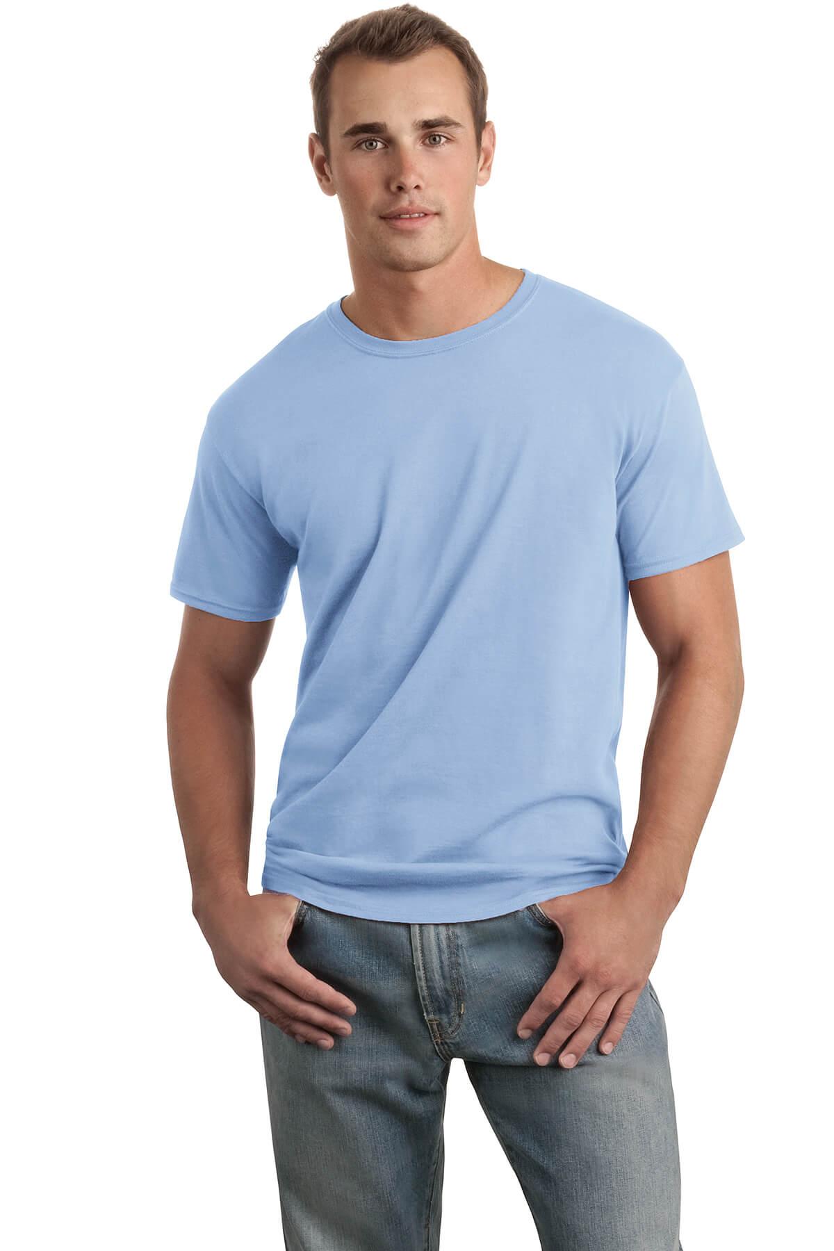 Light Blue T-Shirt Model Front