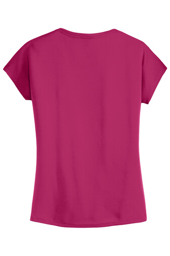 Pink Azalea Womens Custom Tee Back