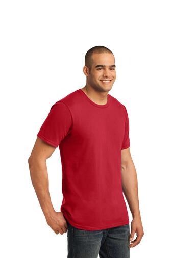 Red Custom Print Tee Model Side