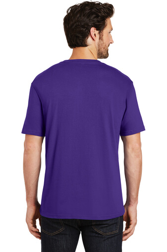 Back Custom Tee Shirt Purple