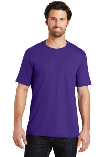 Front Custom Tee Shirt Purple