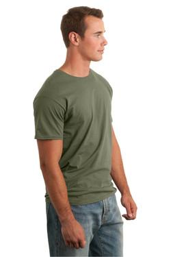 Military Green T-Shirt Model Side