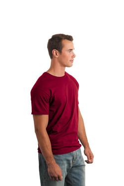 Cardinal Red T-Shirt Model Side
