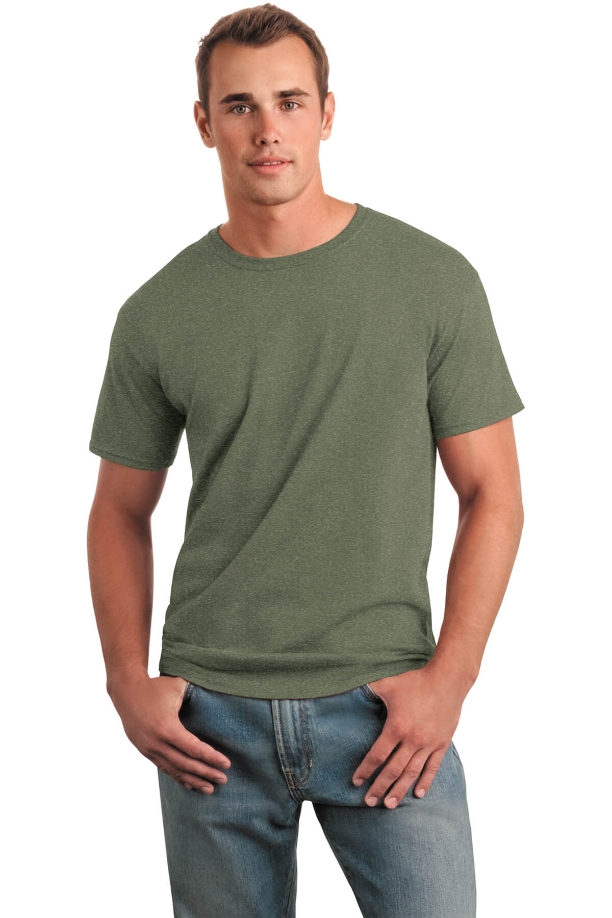 Military Green T-Shirt Model Front