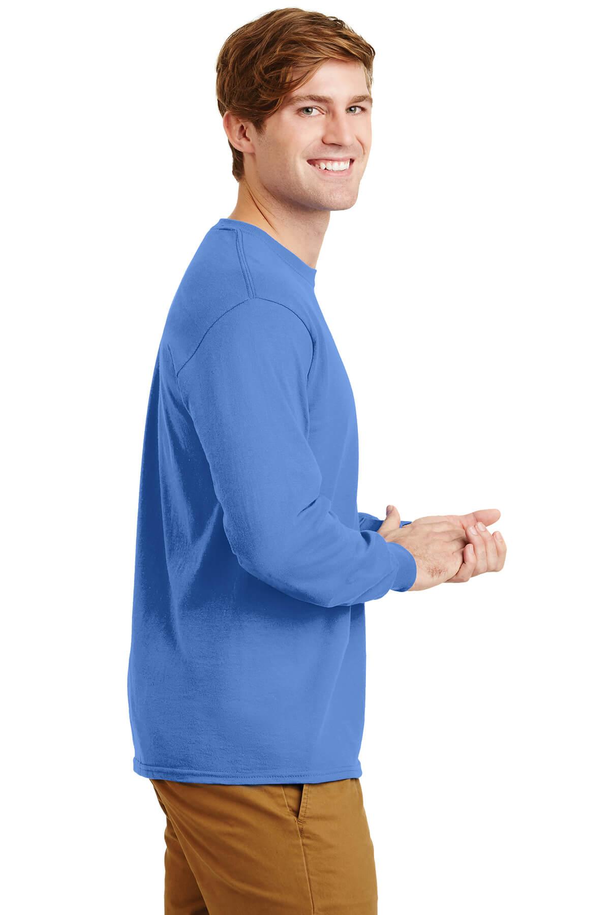 Blue Longsleeve Tee Model Right
