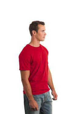 Red T-Shirt Model Side