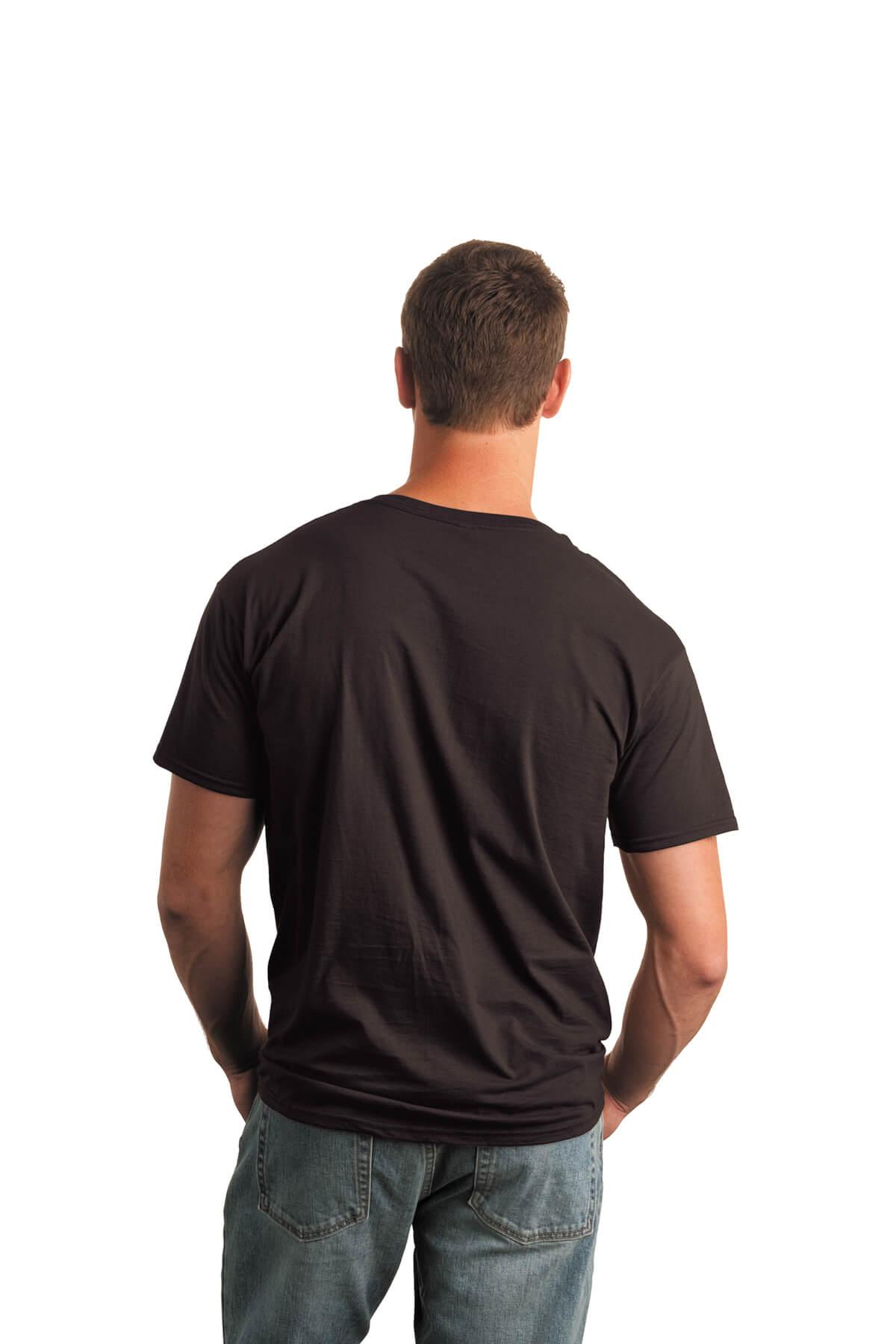 Dark Chocolate T-Shirt Model Back