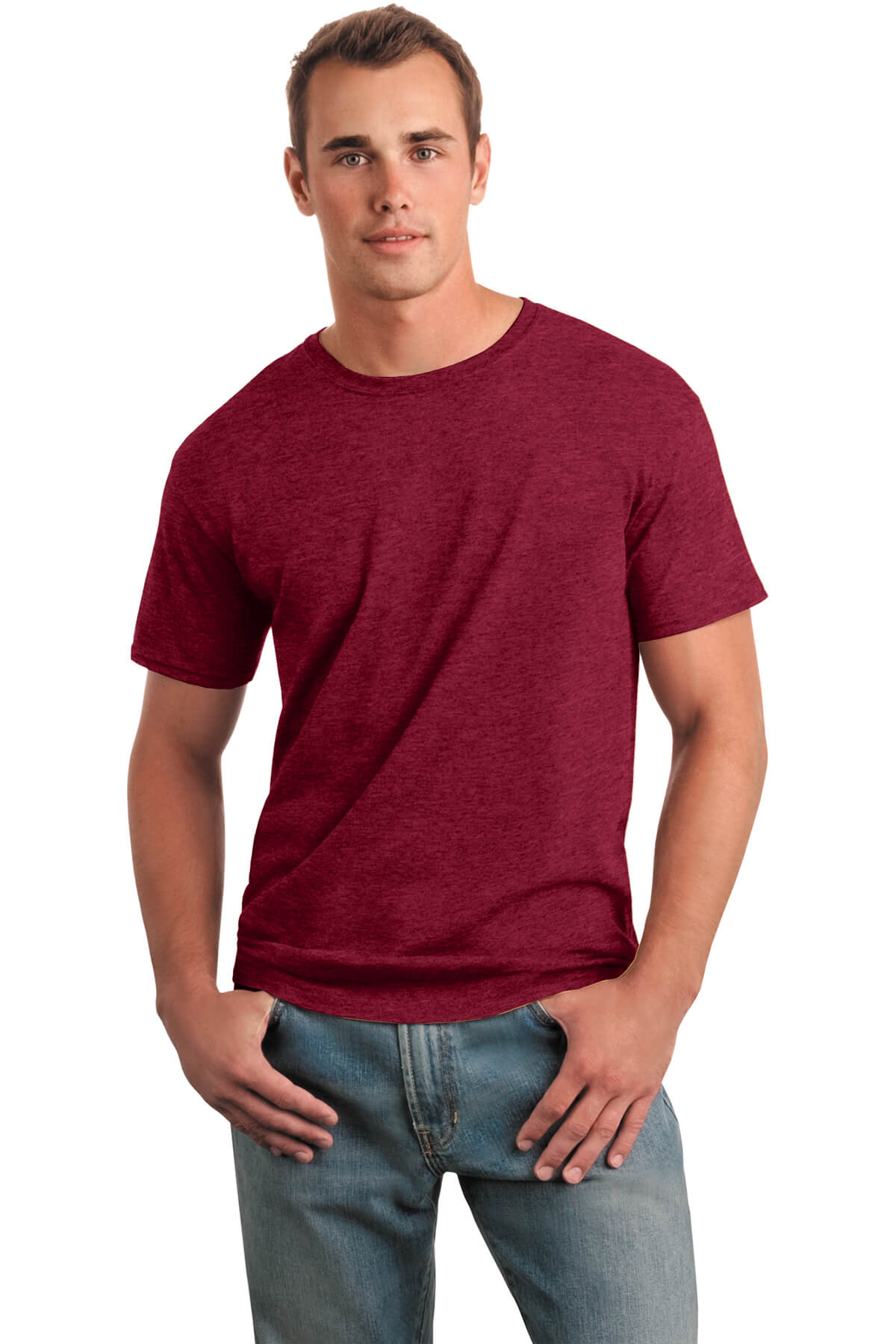 Cherry Red T-Shirt Model Front