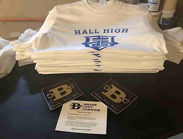 Hall High Screen Printed Tees