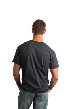 Dark Heather T-Shirt Model Back