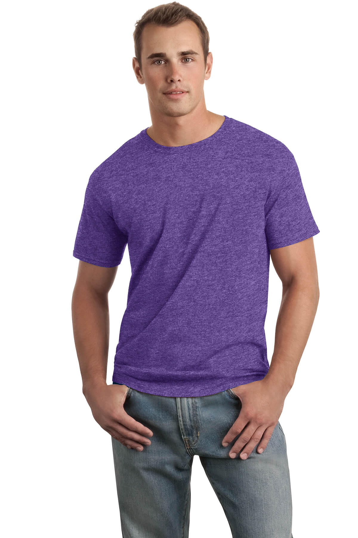 Heather Purple T-Shirt Model Front
