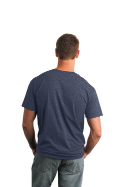 Heather Navy T-Shirt Model Back