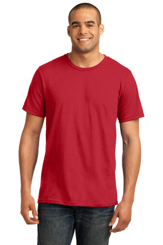 Red Custom Print Tee Model Front