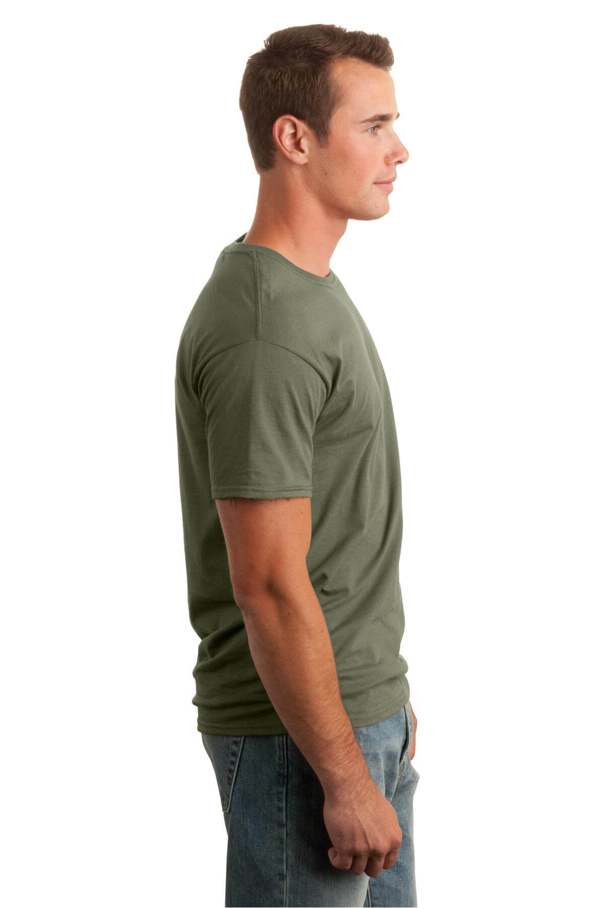 Military Green T-Shirt Model Right