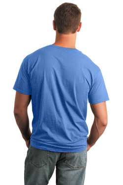 Heather Royal T-Shirt Model Back