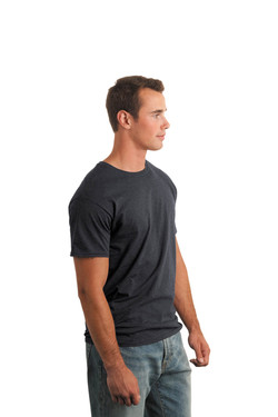 Dark Heather T-Shirt Model Side