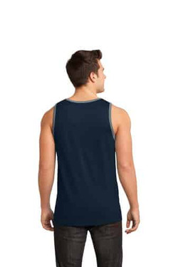 Navy Custom Tank Print Top Back
