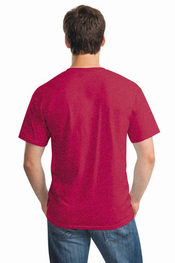 Heather Red Tee Back